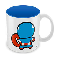 Marvel Kawaii Art - Captain America Ceramic Mug