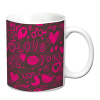 Prithish I Love You Floral White Mug