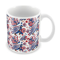 Marvel Civil War - Captain Fight Ceramic Mug