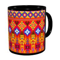 Kolorobia Vibrant Ikat Classic Black Mug