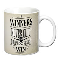 Prithish Winners Never Quit. Quitters Never Win White Mug