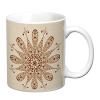 Prithish Abstract Design 16 White Mug