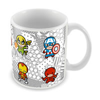 Marvel Kawaii Cast - Avengers Ceramic Mug