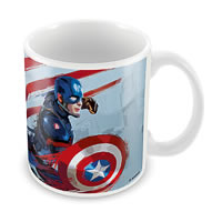 Marvel Civil War - Captain America Art Ceramic Mug