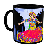 Kolorobia Graceful Garba Classic Black Mug