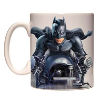 Warner Brothers Batman batpod With Logo Mug