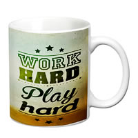 Prithish Work Hard Play Hard White Mug
