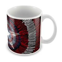 Marvel Captain America - 75 Years Logo Ceramic Mug