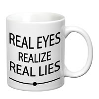 Prithish Real Eyes White Mug