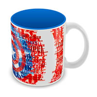 Marvel Captain America Blue Art Ceramic Mug