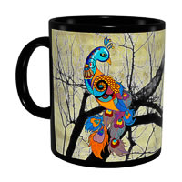 Kolorobia Graceful Peacock Classic Black Mug