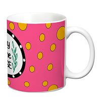 Prithish Lady Of The House Pink White Mug