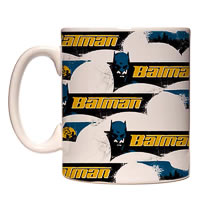 Warner Brothers Batman Logo Collage Mug