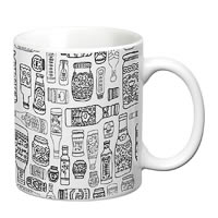Prithish Bottles Design 1 White Mug