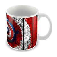 Marvel Captain America Plain Logo Ceramic Mug