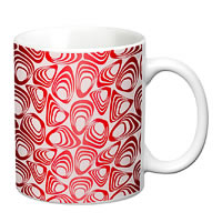 Prithish Abstract Design 13 White Mug