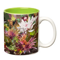 Prithish Floral Painting Double Color Mug