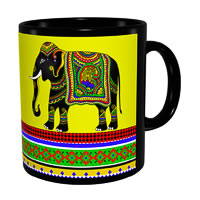 Kolorobia Jeweled Elephant Classic Black Mug