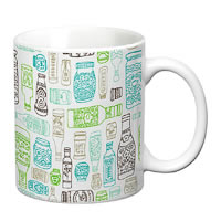 Prithish Bottles Design 2, White Mug