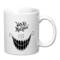 Prithish We're All Mad Here White Mug