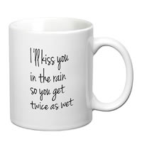 Prithish Kiss You In The Rain White Mug