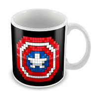 Marvel Captain America Logo Art Ceramic Mug
