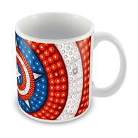 Marvel Captain America Art Ceramic Mug