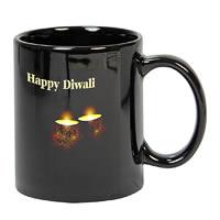 Prithish Diwali Design 3 Black Mug