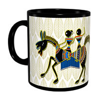 Kolorobia Wonderful Warli Classic Black Mug