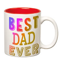Prithish Best Dad Ever Rainbow Effect Double Color Mug