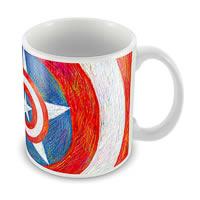 Marvel Captain America Logo Art Blue Ceramic Mug