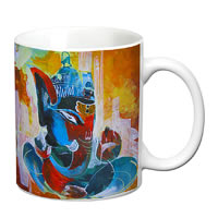Prithish Ganpati Bappa Design 5 White Mug