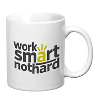 Prithish Work Smart, Not Hard White Mug