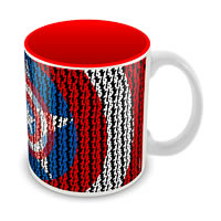Marvel Captain America Red Art Ceramic Mug