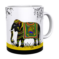 Kolorobia Yellow Royal Elephant Classic White Mug