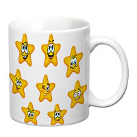 Prithish Smiley Stars White Mug