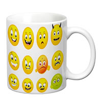 Prithish Smiley Expressions White Mug