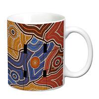 Prithish Mosiac Painting Design 1 White Mug