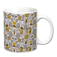 Prithish Floral Design 8 White Mug