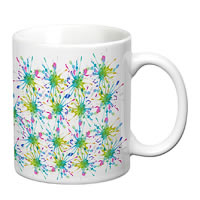 Prithish Colour Splash Design 2 White Mug