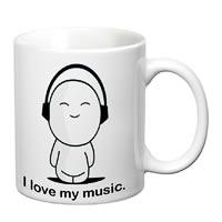 Prithish I Love My Music White Mug