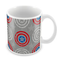 Marvel Civil War - Captain Logo Design Ceramic Mug