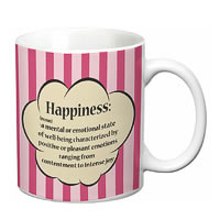 Prithish Happiness Definition White Mug