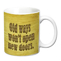 Prithish Old Ways New Doors White Mug