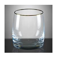 Bohemia Crystal Ideal Whiskey Glass Gold Rim, 290 ml - set of 6