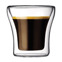 Bodum Assam Double Wall Glass, Extra Small 100 ml - set of 2