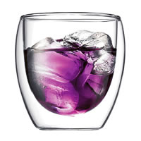 Bodum Pavina Double Wall Glass, Small 250 ml - set of 2