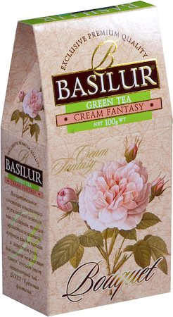 Basilur Bouquet Cream Fantasy Loose Leaf Green Tea 100 gm