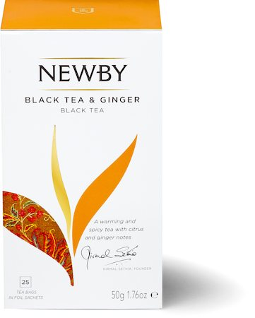 Newby Black Tea and Ginger (25 tea bags)