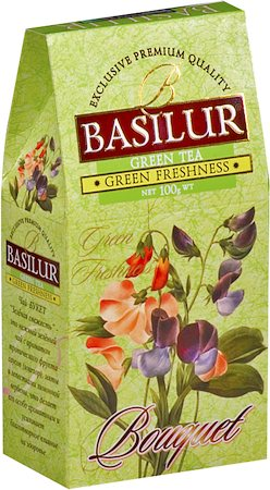 Basilur Bouquet Green Freshness Loose Leaf Tea 100 gm